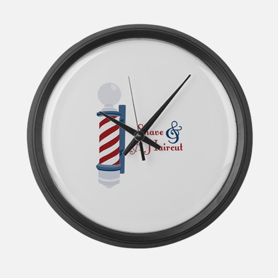 Shave And A Haircut Large Wall Clock