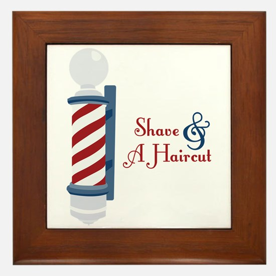 Shave And A Haircut Framed Tile