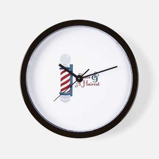 Shave And A Haircut Wall Clock