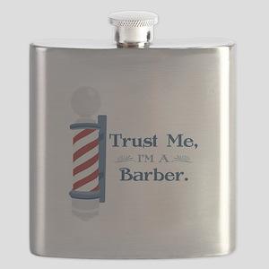 Trust Me Im A Barber Flask
