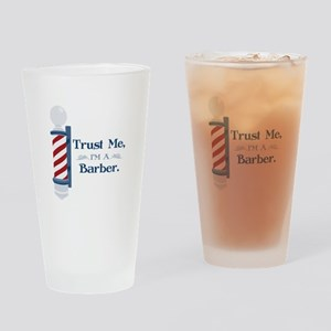 Trust Me Im A Barber Drinking Glass