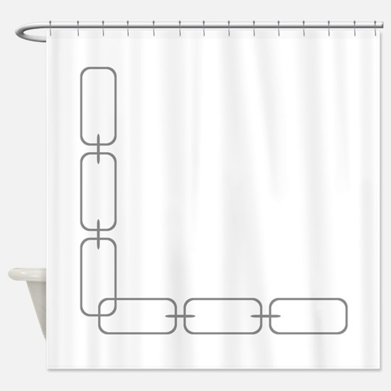 Chain Link Border Shower Curtain