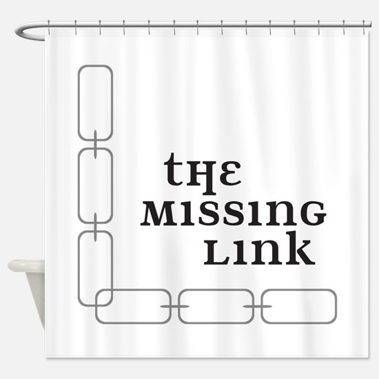 The Missing Link Shower Curtain