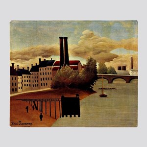 Rousseau: View of Outskirts of Paris Throw Blanket