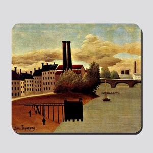 Rousseau: View of Outskirts of Paris Mousepad
