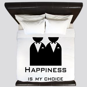 Happiness Is My Choice-Groom And King Duvet