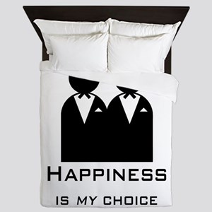 Happiness Is My Choice-Groom And Queen Duvet