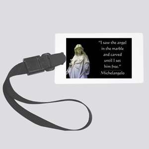 Angel In Marble Large Luggage Tag