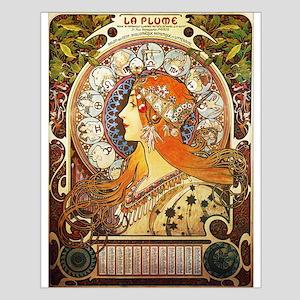 Alphonse Mucha La Plume Zodiac Posters