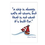 A ship is always safe at shore Postcards (Package