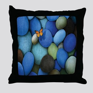 Blue Stones Throw Pillow