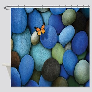 Blue Stones Shower Curtain