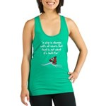 A ship is always safe at shore Racerback Tank Top