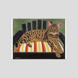 Bengal Cat 5'x7'Area Rug