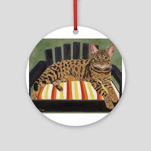 Bengal Cat Round Ornament