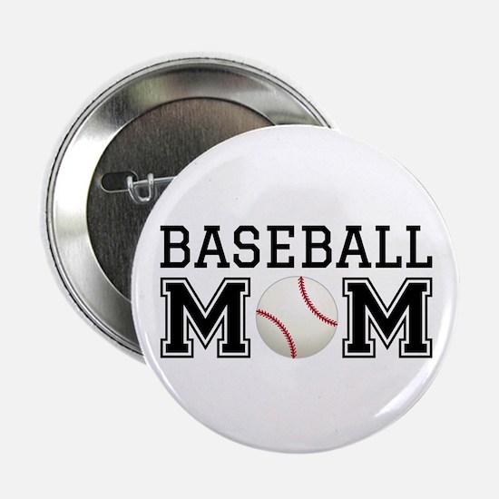 """Baseball mom 2.25"""" Button"""