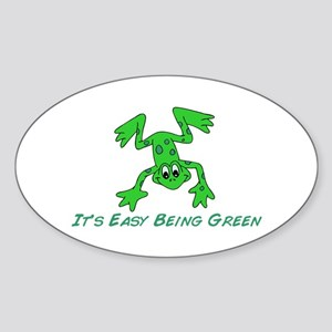 Frog It's Easy Sticker (Oval)