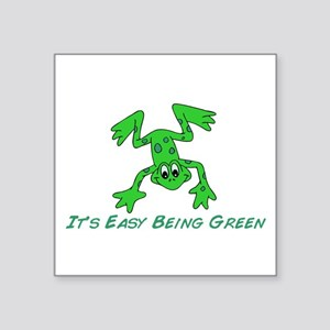 """Frog It's Easy Square Sticker 3"""" x 3"""""""
