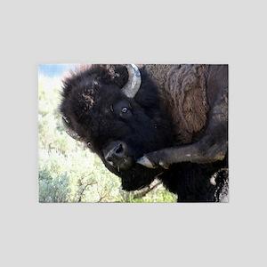 Yellowstone Wild Buffalo Souvenir P 5'x7'Area Rug