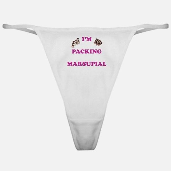 I'm Packing Marsupial Pink Classic Thong