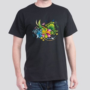 Summer Flower Power Dark T-Shirt