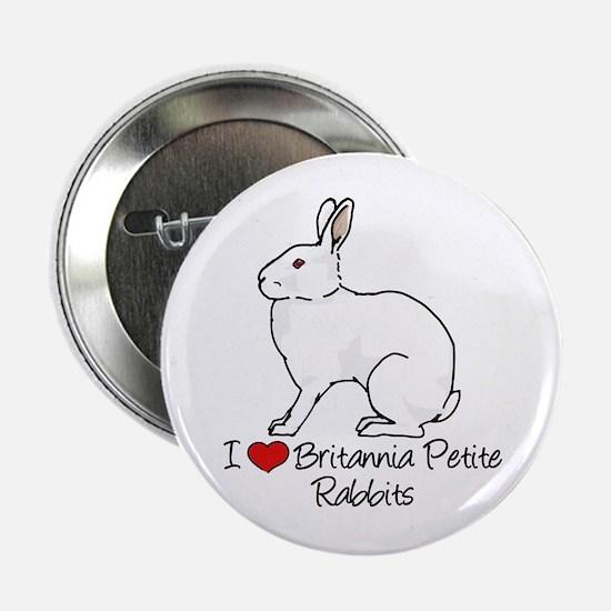 """I Heart Britannia Petite Rabbits 2.25"""" Button"""