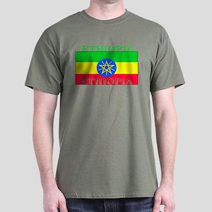 Ethiopia Ethiopian Flag Dark T-Shirt