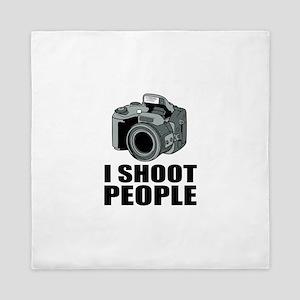 I Shoot People Photography Queen Duvet