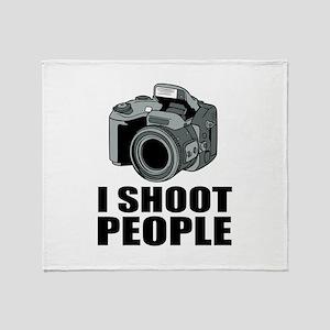 I Shoot People Photography Throw Blanket