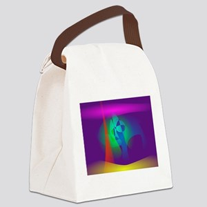 Deep Purple Contrast Canvas Lunch Bag