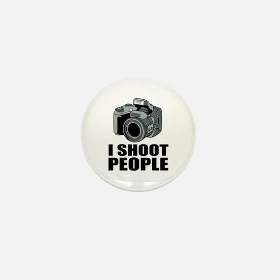 I Shoot People Photography Mini Button