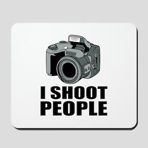 I Shoot People Photography Mousepad
