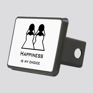 Happiness Is My Rectangular Hitch Cover
