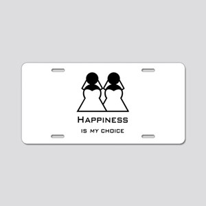Happiness Is My Aluminum License Plate