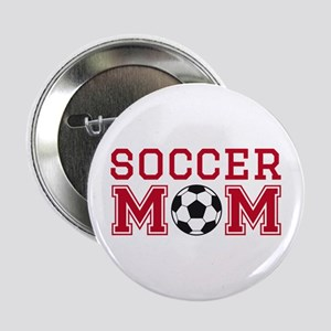 """Soccer mom red 2.25"""" Button"""