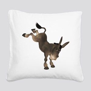 Donkey Square Canvas Pillow