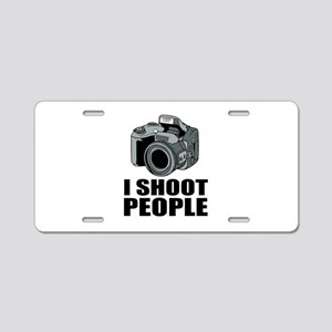 I Shoot People Photography Aluminum License Plate