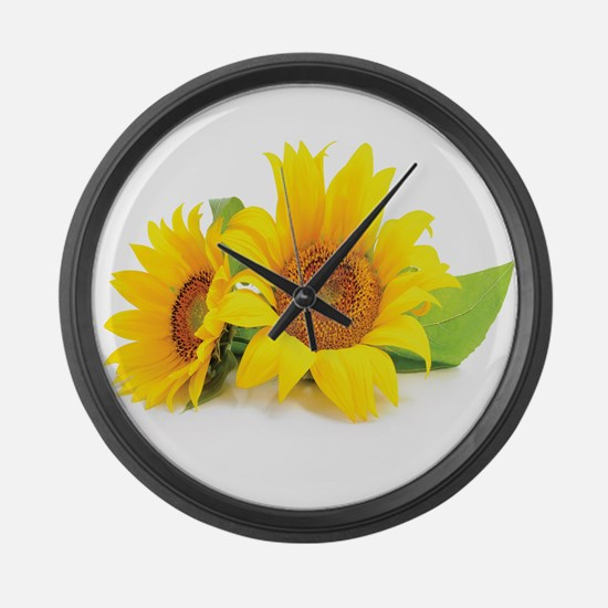 Sunflowers Large Wall Clock