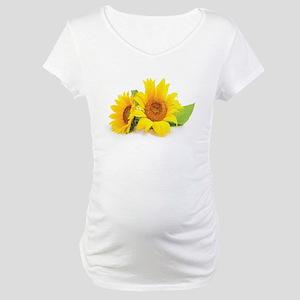 Sunflowers Maternity T-Shirt