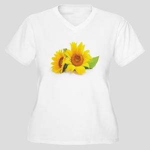Sunflowers Plus Size T-Shirt