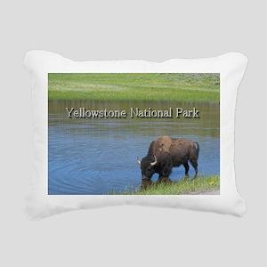 Wild American Buffalo in Rectangular Canvas Pillow