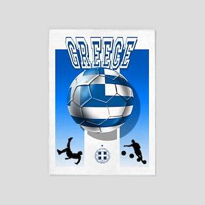 Greece Soccer Football 5'x7'area Rug