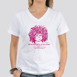 The Curly Haired Girl Can D Women's V-Neck T-Shirt