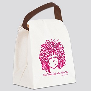 Curly haired girls Are More Fun Canvas Lunch Bag