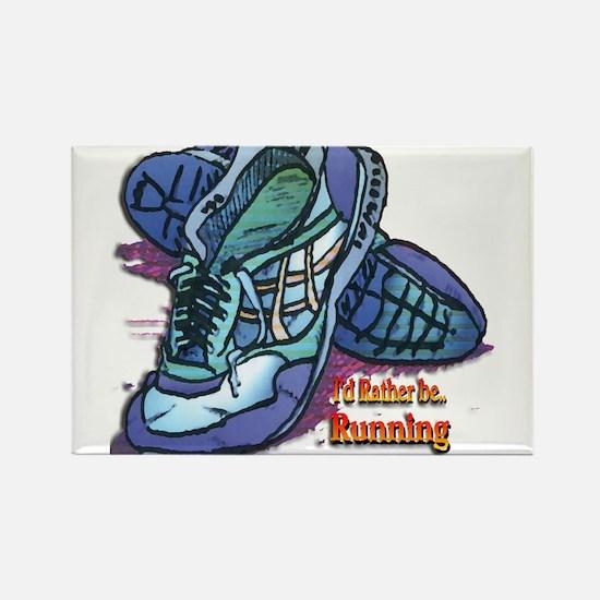 Cute I love a runner Rectangle Magnet