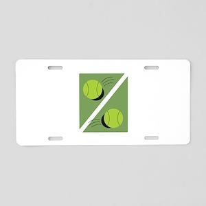 Tennis Ball Aluminum License Plate