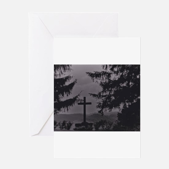 Cross in Black and White Greeting Cards