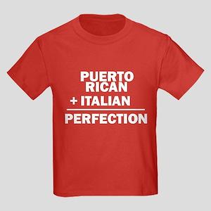Puerto Rican + Italian Kids Dark T-Shirt