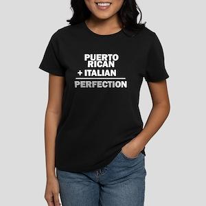Puerto Rican + Italian Women's Dark T-Shirt