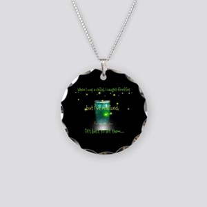 Glow Bugs Necklace Circle Charm